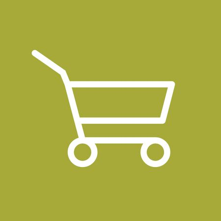Grocery Supermarket Trolley Cart Vector Icon, Empty Shopping Cart for Buyer, Consumerism Concept Sign, Fewer Shopping Cause Consumer Behavior Online Shopping Effect, Business Shrink Illustration