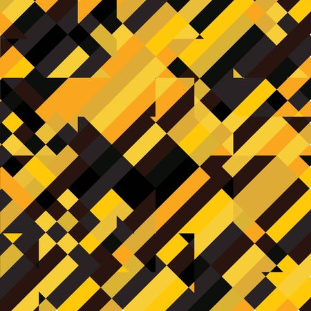 Geometric Pixelated Mosaic Pattern with Square Fragments, Random Pixels, Repeatble Low Resolution Effect, Retro Texture, Houses Fashion Background