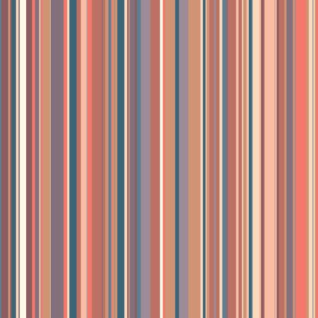 Retro Color Straight Vertical Variable Width Stripes