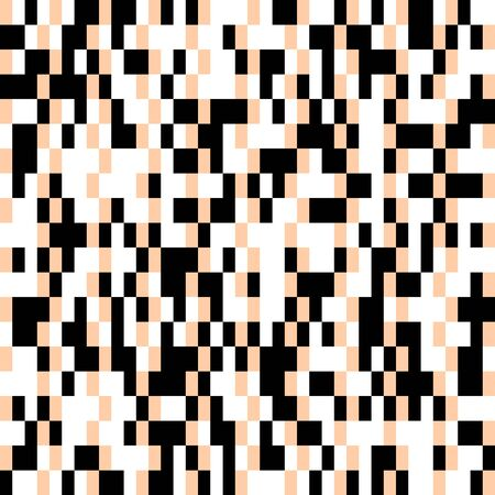 Pixel Abstract Mosaic Background, Squares Design Isolated Black Elements on White Pattern Vector illustration�with Different�Rectangular Shapes,�Pixels Geometrical Effect�with Dots�for Modern Design