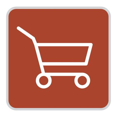 Grocery Supermarket Trolley Cart Vector Icon, Empty Shopping Cart for Buyer, Consumerism Concept Sign, Fewer Shopping Cause Consumer Behavior Online Shopping Effect,Business Shrink Illustration