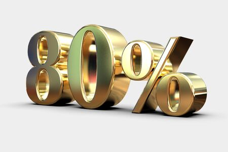 Gold Sale 80%, Gold Percent Off Discount Sign, Sale Banner Template, Special Offer 80% Off Discount Tag, Gold Eighty Percentages Sign, Gold Sale Symbol, Sticker, Banner, Advertising, Luxury Sale