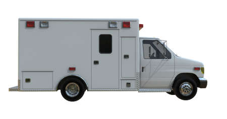 Ambulance van isolated on white