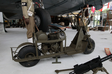 hoc: France, Normandy, June 6, 2011 - Motorcycle, which was used by the Allies during the operation in Normandy in 1944.