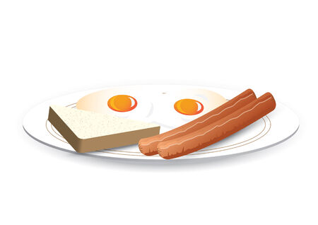 french toast: breakfast Illustration