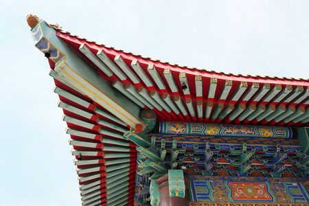 The roof of Chinese temple Stock Photo