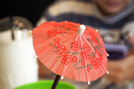 umbella: Small paper Umbrella with graphic