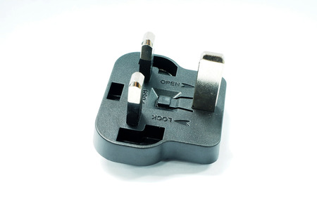 adapter: Black adapter in the white background