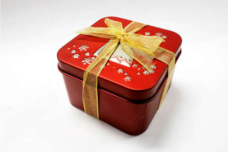 special day: red gift box for special day Stock Photo