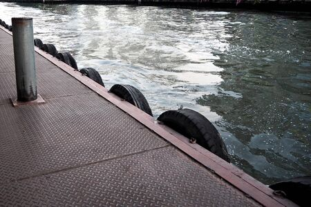 pontoon: Thai pontoon waiting for the boat