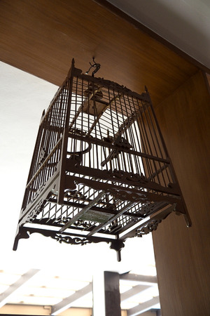 birdcage: Thai birdcage made from wood