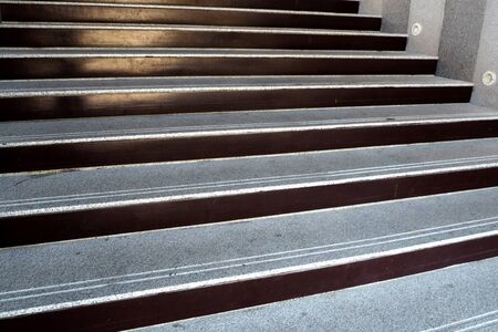 concrete stairs: Stone Ladder very high from floor Stock Photo