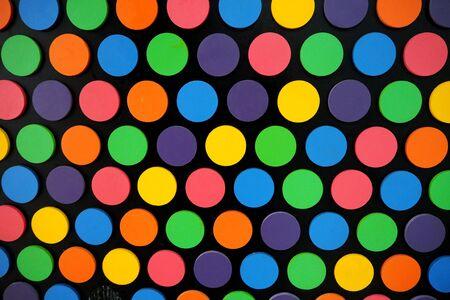 polkadot: poka dot with many color