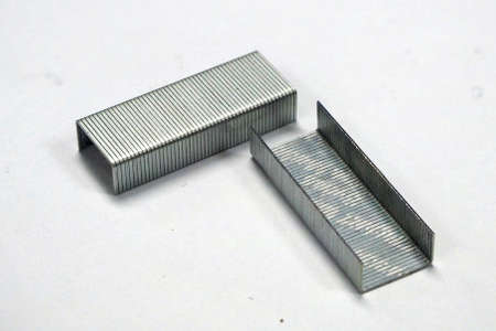 staples: staple is made from steel Stock Photo