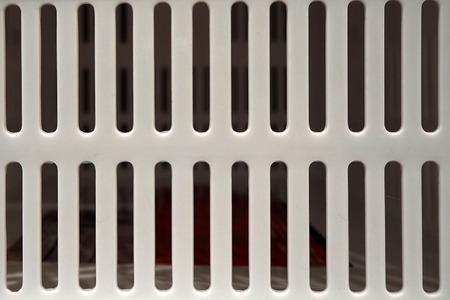 Große weiße Plastikkorb Textur Standard-Bild - 71348953