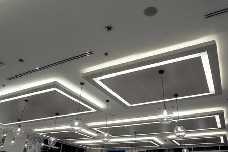 empty warehouse: Light on roof with many design look so cool