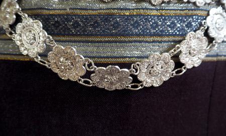 Thai silver belt look so nice and beautyful Stock Photo
