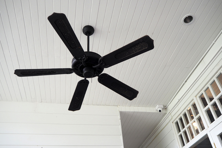 The black old fan on the roof look nice