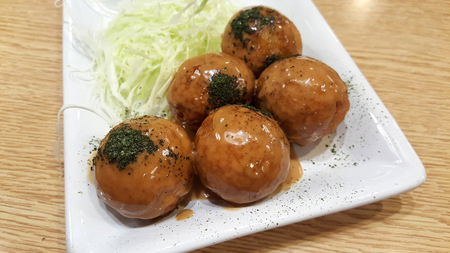 takoyaki from Japan good smell and very yummy Stok Fotoğraf