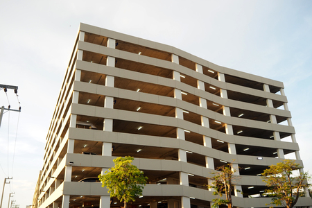 The big parking building in big shopping mall Stock Photo
