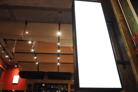 The light box in the shopping mall for advertising