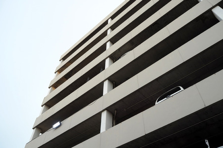 The big parking building in big shopping mall Stok Fotoğraf
