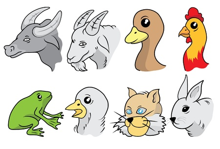 állat fej: Animal Head Set