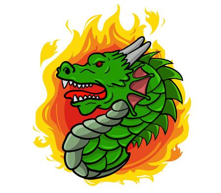 cabeza de dragon: la cabeza del drag�n Vectores