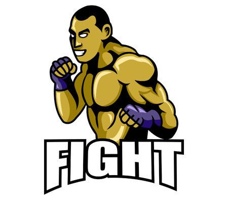 combative: fight Illustration