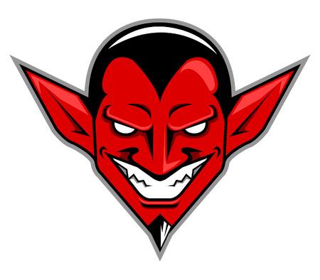red devil: Vector illustration of devil head