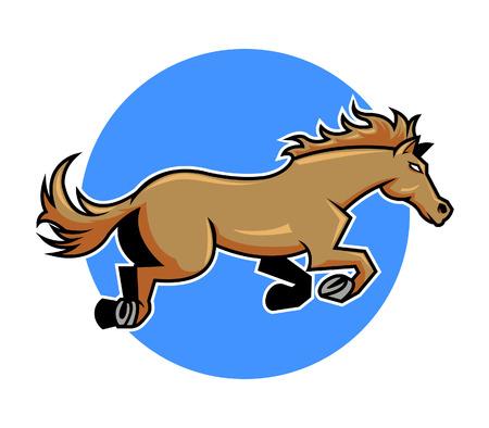 hoofed mammal: a brown horse jump