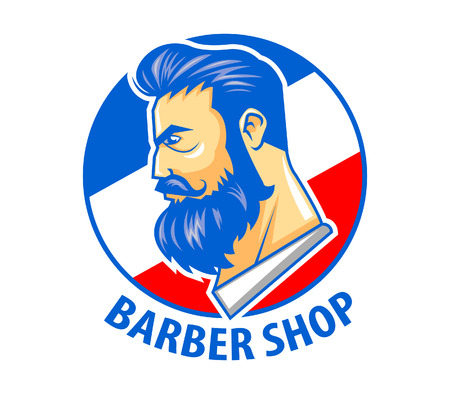 Barber Shop symbool Stock Illustratie