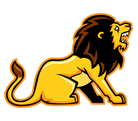 prowling: vector illustration of lion