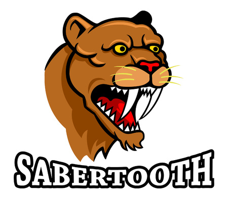 intricacy: Vector illustration oh sabertooth head