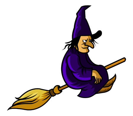 ugliness: Witch fly with broom