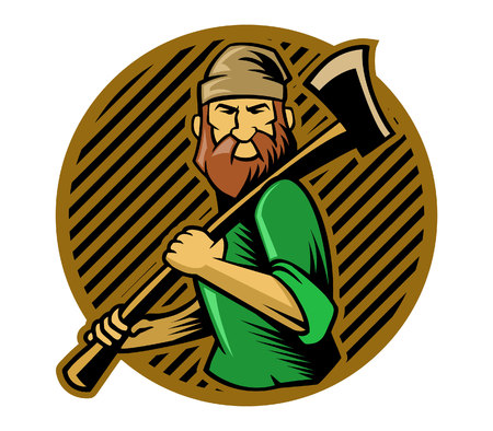 lumberjack: vector illustration of lumberjack