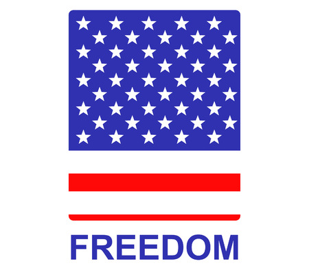 circa: Simple badge for US independence day