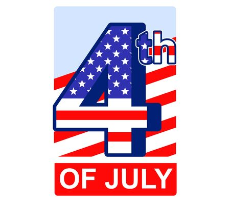 circa: 4th of July badge for US independence day.