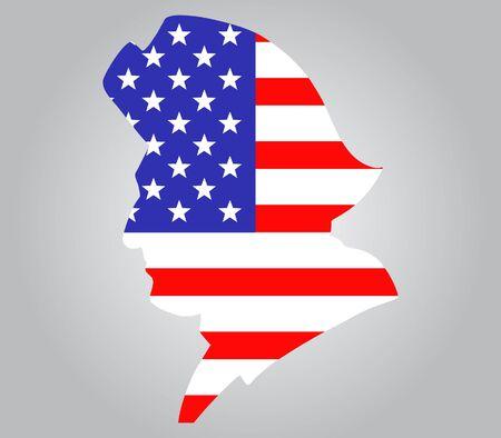 american revolution: vector illustration of American minutemen silhouette