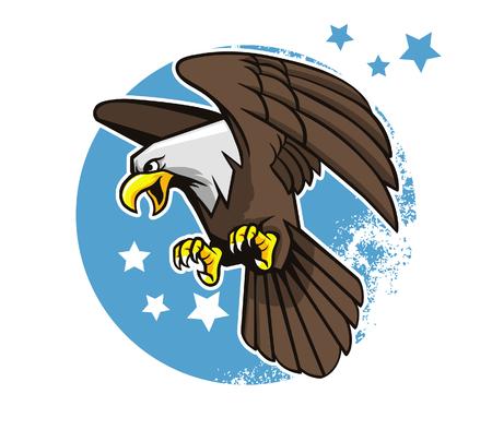 eagle flying: Vector illustration of flying bald eagle.