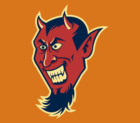 fang: Vector illustration of devil fang in retro color. Illustration