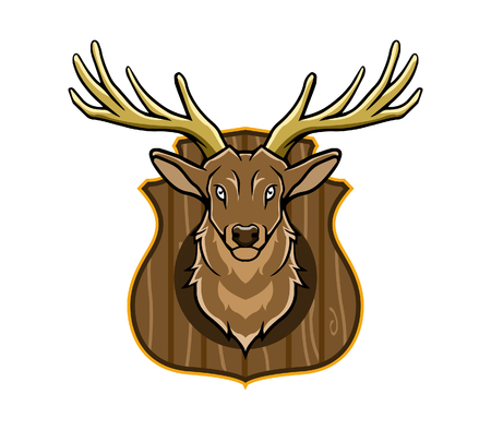 dead animal: Vector illustration of hunting trophy