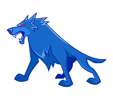 dog sled: Blue wolf stand