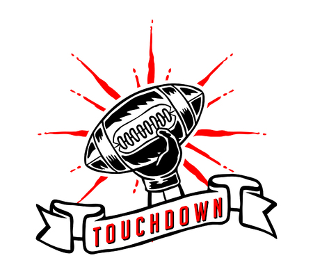 touchdown: Vector illustration of touchdown icon in hand drawing style. Illustration