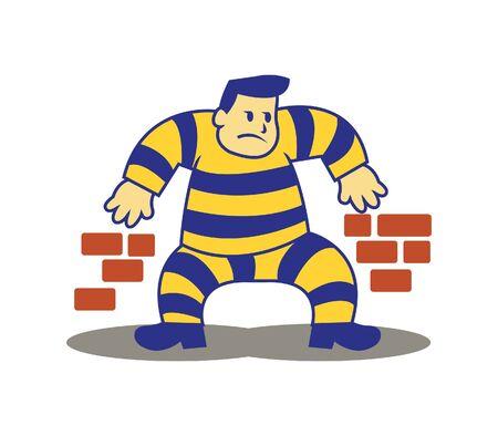 prisoner: sneaking prisoner Illustration