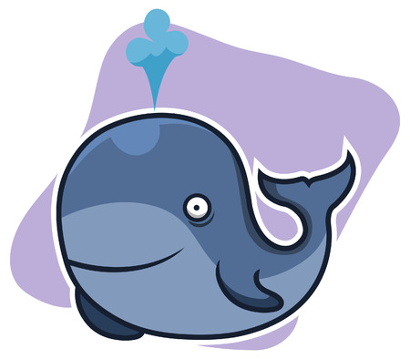 ballena azul: Dibujos animados ballena azul
