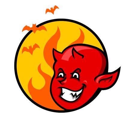 rockabilly: Red Devil Boy Badge