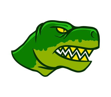 animal body part: Dinosaurus Head Side View Illustration