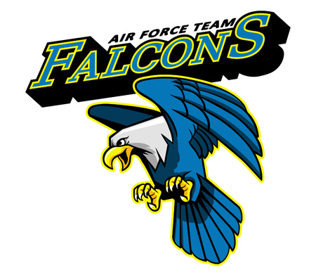 shaved head: Falcons Air Force Team Mascot