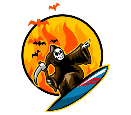 Grim Surfing on Flame